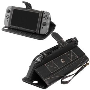 Copertura di viaggio Custodia PU cuoio di vibrazione Protect per Nintendo interruttore di caso, con 10 carte Holeders funzione del basamento
