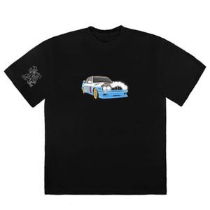 20SS JACKBOYS TEE Car Printing Tee с коротким рукавом повседневная мода хлопчатобумажные шорты мужские женщины пара дизайнерская футболка HFXHTX147