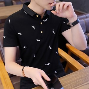 New Clothes Mens Sleeve Turncollar in Cotton Pure Korean Halfsleeve Shirt Shaping Fashion Short Tshirt Polo Summer Jbjgw