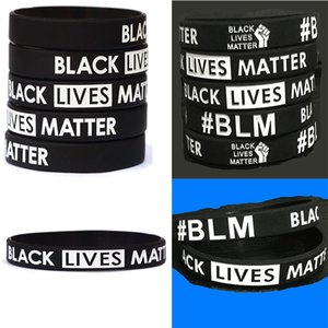 Black Lives Matter Wristband Silicone Bracelet Women Men Unisex Rubber Bracelets Wristband Bangles Party Favor DA612