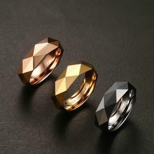 Luxus-Designer-Verpflichtungs-Hochzeits-Band-Ringe für Männer Europäer und USA-Art-Wolframstahl-Karbid-Ringe