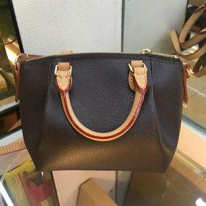 Nuevo de calidad superior de estampado en caliente gratuito de cuero genuino de la marca TURENNE Tote Bag Women Fashion Shoulder Bag Bolsos con correa crossbody 48813