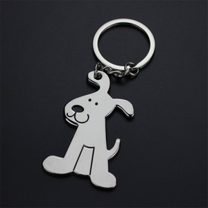 سبائك الكلب تصميم خواتم مفتاح سلاسل حقيبة قلادة الحلي الملحقات كيرينغ سيارة مفتاح فوب حامل الأزياء تعزيز الهدايا مع حقيبة OPP