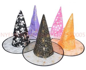 Colorful Halloween Costumes decoration Hallowmas Party Props All Saints'Day Cool Witches Wizard Hats hat Cup factory price300pcs