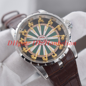 NEW men 12 round table knight Three-dimensional dial designer watches 2813 automatic movement watch Mechanical horloge orologio di lusso