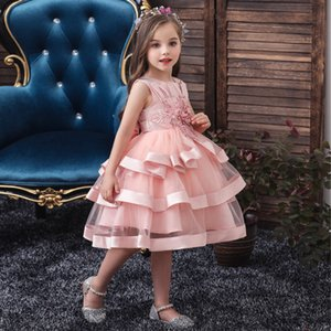 Golden shield Popular children's dress ball gown embroidered girl princess skirt girls pageant dress for stage and performance