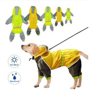 Водонепроницаемый собак Дождевик Reflective Собаки дождя куртку безопасности дождевики для собак Комбинезоны Пончо Одежда для Маленький Средний Большой Pet Собаки