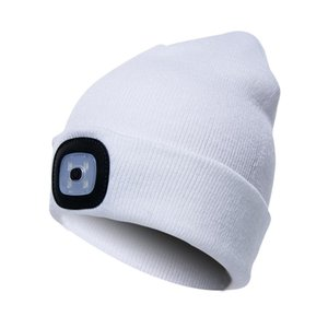 Warm Outdoor Lighted Knit Hat With LED Light Sweater Cap