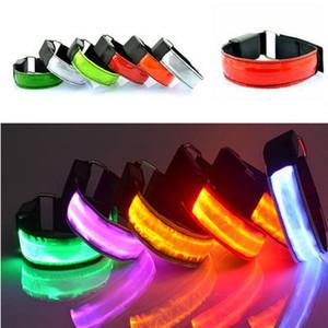 LED безопасность Светоотражающих Armband велосипеды мигающего спорт повязка предупреждение Night LED вспышка ремешок Glow пояс Halloween Party Supplies DBC VT0862