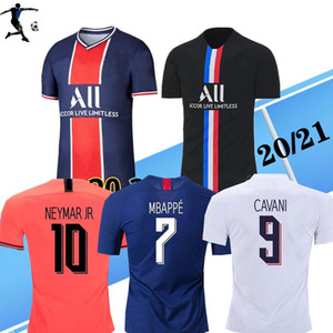 NEW 20 21 Maillots де футбол Джерси лапка пс 2020 2021 Париж MBAPPE Sarabia футбол Джерси комплект чемпионы рубашка футбол рубашка