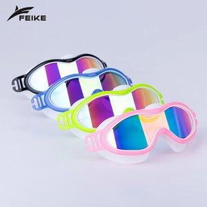Анти-туман плавательные очки Мальчики Девочки плавать очки для детей Вода очки Zwembril Водонепроницаемый Googles Дети плаванию очки