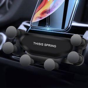 سيارة الجاذبية حامل الهاتف تنفيس الهواء الهاتف الخليوي جبل القوس السيارات قابل للسحب القوس لفون سامسونج
