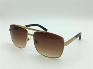 Erkekler Z0256U moda klasik güneş gözlüğü tutum güneş gözlüğü altın çerçeve kare metal çerçeve vintage stil açık tasarım klasik model 61-15