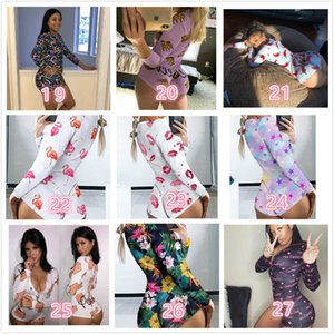 Designer Macacões Mulheres Nightwear Playsuit Workout Botão magro Hot Imprimir V-pescoço curto Onesies Mulheres Plus Size macacãozinho 123