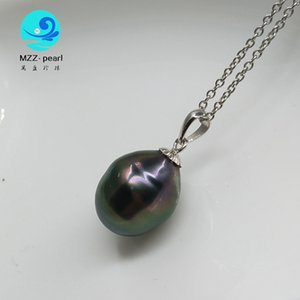drop shaped Tahitian Cultured Pearl pendant designs with s925 adjustable chain length,best birthday gift for girls