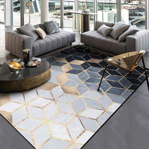 Mode abstraite moderne d'or noir gris Diamants Porte Pied Salle de bain Cuisine Tapis Salon Chambre décorative Tapis Tapis Espace