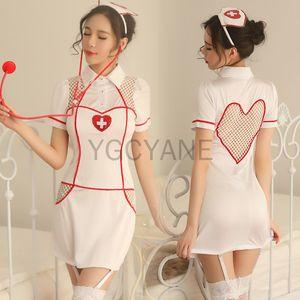 Moda Feminina traje exótico Mulheres Nurse Doctor Fancy Dress Costumes New Sexy Nurse Lingerie Uniform Nurse Exotic Erotic