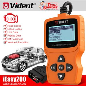 Original VIDENT iEasy200 OBDII EOBD+CAN Multilingual Code Reader for Vehicle Checking Engine Light Car Diagnostic Scan Tool