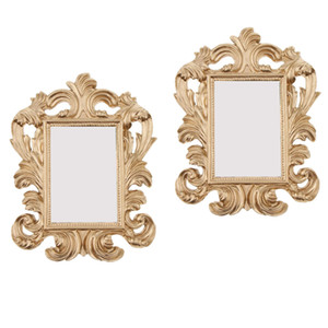 2 X Glitter Baroque Photo Frame Resin Stand Photo Place Name Card Holder