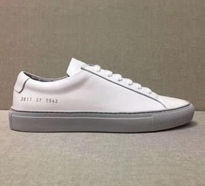 Yeni Beyaz Pembe Aşil Düşük En Ayakkabı Kadınlar Sneakers Gerçek Deri Ayakkabı Flats Chaussure Femme Homme jin13