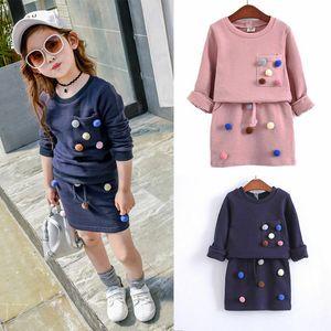 Великобритания Продавец 2PCS Малыш Ребенок девочка Цветочный топ с длинным рукавом + юбка наборы 1-6T