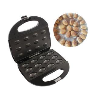 Elétrica Walnut Cake Maker automática Mini Nut Waffle Máquina de Pão Sandwich Ferro Torradeira Baking Ferramenta almoço Pan Forno EU Plug