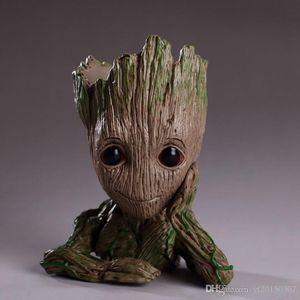 Bebé Groot maceta maceta figuras de acción jardín maceta árbol hombre lindo modelo juguete pluma olla al por mayor
