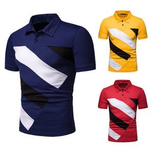 2020 hommes de mode de luxe design polos hommes de haute qualité Polo chemise T-shirts manches courtes Homme Lapel T-shirt Vêtements pour hommes D04