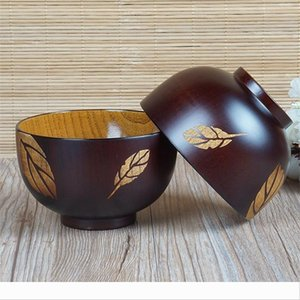 Bowl Children Solid Wood Hand Drawn Leaf Cherry Blossoms Acid Jujube Tableware Home Use Lovely Circular Wooden Basin Manufactor Dire 16ln p1