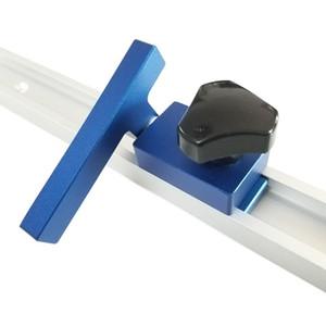 NOUVEAU aluminium T-Slot T piste w / Mitre piste d'arrêt Router Table Jig Fixture Slot T-Track pour le travail du bois Outils en bois