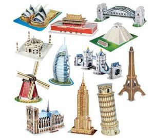 DIY 3D Puzzle Papier Dimensional Model Assembled Denkaufgabe Learning Lernspiele Spielzeug Kinder Puzzle Kinder Architektur