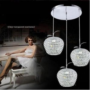 Lustres Elma Kristal Led Sarkıt Luminarias Koridor Balkon kolye ışık Krom Işıklandırma Abajur E27 Asma