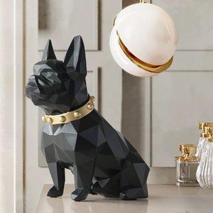 Собака Статуя Home Decor Crafts животные Смола Скульптура Современное искусство Для дома украшения украшения аксессуаров Фигурки сад Декор T200619