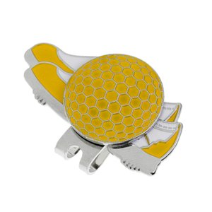 Funny Shoe Design Stainless Steel Golf Hat Clip with Magnetic Ball Marker - Choice of 4 Colors