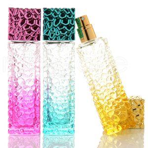 Seyahat Taşınabilir Alt Şişe Doldurulabilir Parfüm İnce Mist Püskürtme atomize Pompa RRA2237 Packaging Şişe Cam Kare Kozmetik Spray 50ml