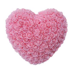 30 centimetri di cuore fresco conservato Rosa Fiore Fiori Artificiali Per Matrimonio Matrimonio partito della casa di San Valentino decorazione della regalo di giorno T200509