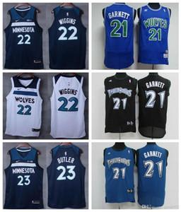 rétroMinnesotaTimberwolves Basketball Jersey 21 # Kevin Garnett 32 # Karl-Anthony Towns 22 # Andrew Wiggins Brochage Jersey