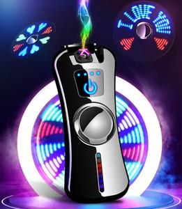 Punta delle dita giroscopio Spinner doppio arco più leggero No Gas WindWater Touch Screen Proof ricaricabile USB Charging Accendini