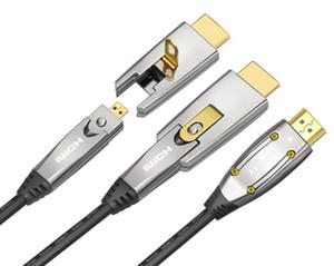 Cavo HDMI 2.0 a fibra ottica ad alta velocità 4K 60Hz 18 Gbps con cavo audio video HDMI Cavo amplificatore senza perdita HDR 4: 4: 4 per computer con proiettore PS3