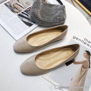 Summer new womens shoes fashion personality single shoe sheepskin upper with rubber outsole casual leather shoes With box 35-39