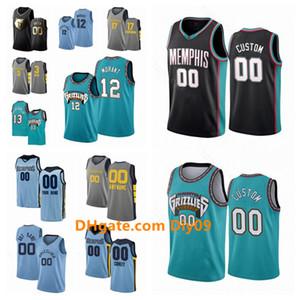 Impreso Memphis personalizadaGrizzliesJersey Ja 12 Morant Jaren Jackson Jr. 13 Marc Gasol 33 Ciudad alero Edición jerseys del baloncesto