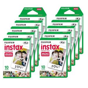 New 20 pcs box fujifilm instax mini 8 film 20 sheets for camera Instax mini 7s 25 50s 90 Photo Paper White Edge 3 inch wide film