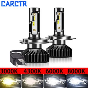 CARCTR Led Car Headlight H4 LED H7 Lamps H11 Bulbs H1 3000K 6000K 8000K 30W 8000LM Super Bright Headlamp Car Lights Fog Lights