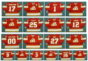 Camisolas Vintage Atlanta Chamas 3 PAT QUINN 17 ILYA KOVALCHUK 1 JIM CRAIG 25 PLETT 12 TOM LYSIAK 27 VAIL 9 JEAN PRONOVOST 16 CHOUINARD Hockey