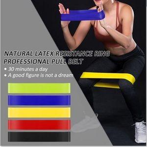 DHL Schiff Yoga Stripes 5 Farben Elastic Yoga Gummi Widerstand Assist Band Gum Ausrüstung Übungsband Pull Seil Stretch-Kreuz