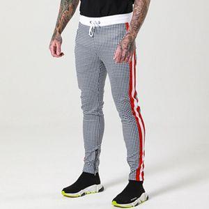 New Style Mens Designer Hosen Fashion Plaid gedruckte dünne Hosen mit Kordelzug Sports Mens Jogger Hosen