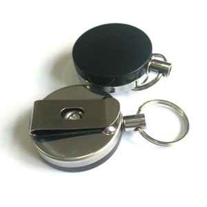 Semi-metal 4 cm easy-to-pull key-button easy-to-pull anti-theft and anti-loss telescopic key-button gift wholesale
