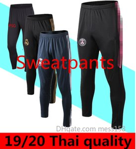 19 20 uomini pantaloni Real Madrid pista pantalone Mbappe 2019 2020 MESSI Pantaloni felpati Adulti Chivas di calcio RASHFORD dei pantaloni Allenamento