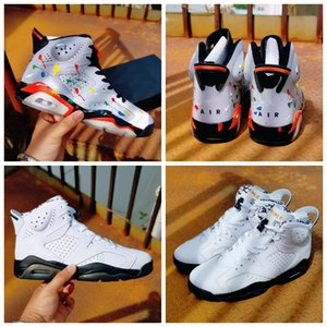 2020 New 6 Tie Dye 6s GS Men Basketball Shoes 3M Reflective Sliver Graffiti Valentine Day Sports Trainers Women Sneakers 36-47