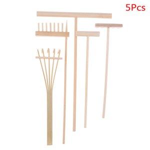 Украшение Crafts Статуэтки Miniatures 4шт / 5шт Bamboo Zen Garden Rake Медитация Инструменты Домашнее украшение Расслабление ручной работы